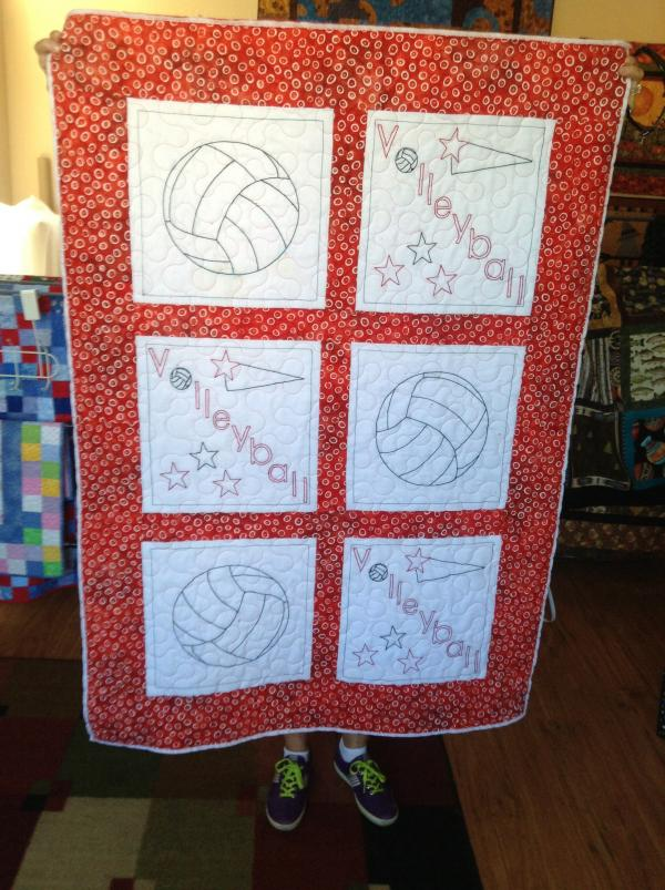 Brenda's Volleyball Quilt