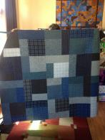 Sharon's Man's Plaid Quilt