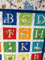 Betty's Seuss Alphabet Quilt