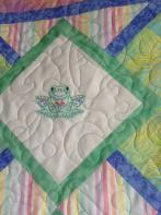 Lisa's Embroidered Baby Quilt