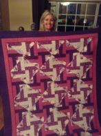 Sue's Red Hat Quilt