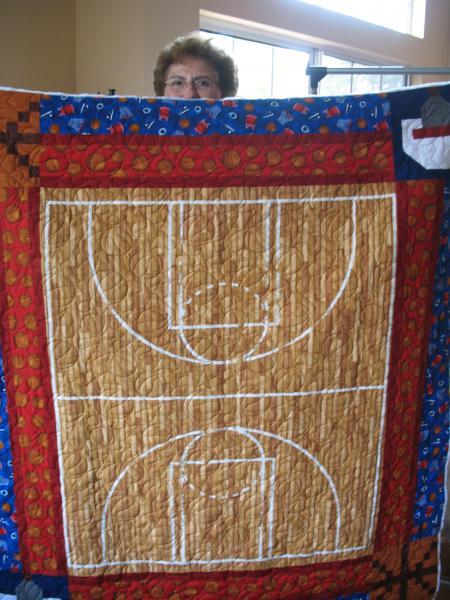 Brenda's Basketball Quilt