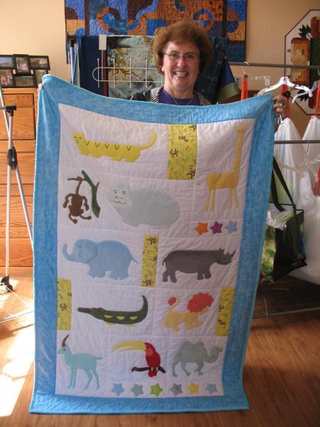 Brenda's Minkee Animal Quilt