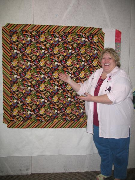 Sherri's Hot  Peppers Quilt