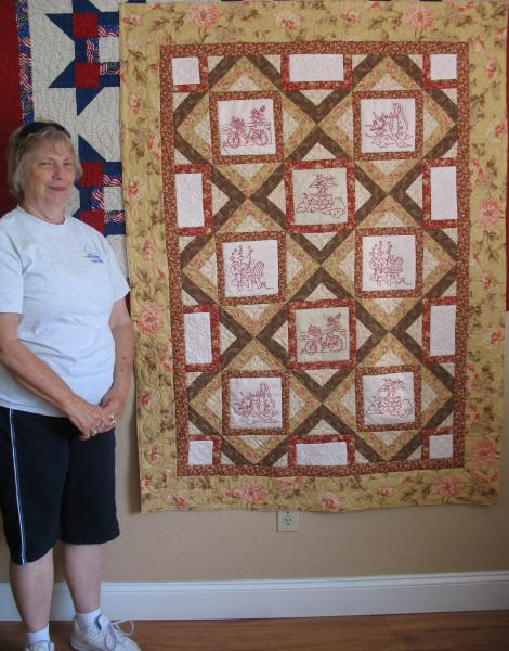 Gracie's Custom Stitchery Quilt
