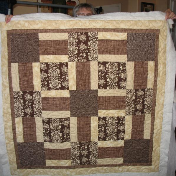 Kathy's Beige and Brown Quilt