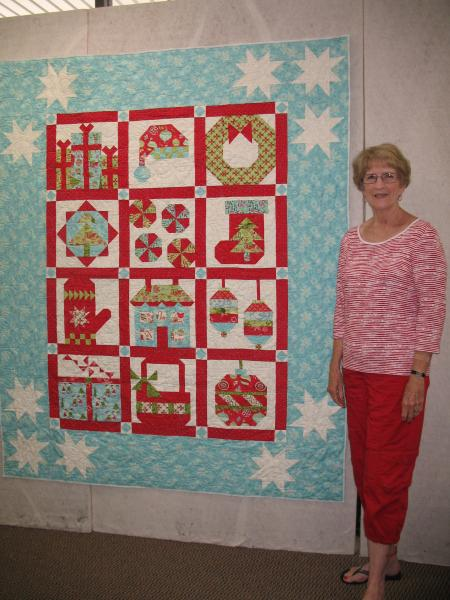 Angela's Christmas Block of the Month Quilt