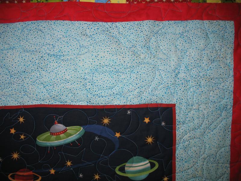 Loretta's Space Aliens Quilt