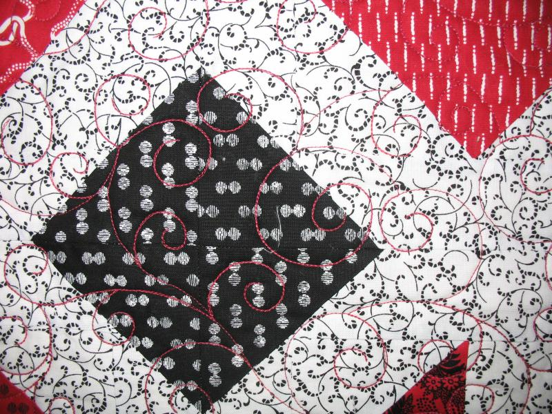 Gayle's Black, Red, and White Quilt
