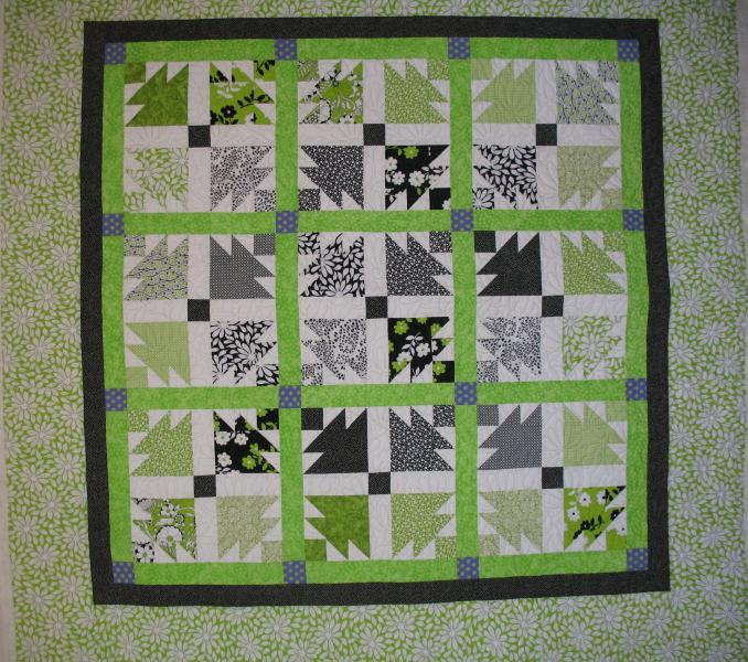 Gayle's Green Meadow Quilt