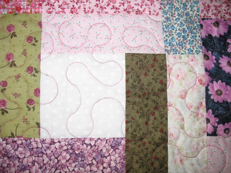 Brenda's Scrappy Floral Quilt