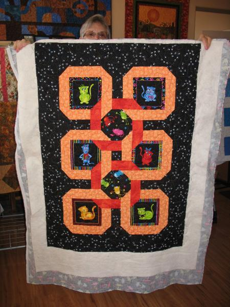Kathy's Colorful Cats Quilt