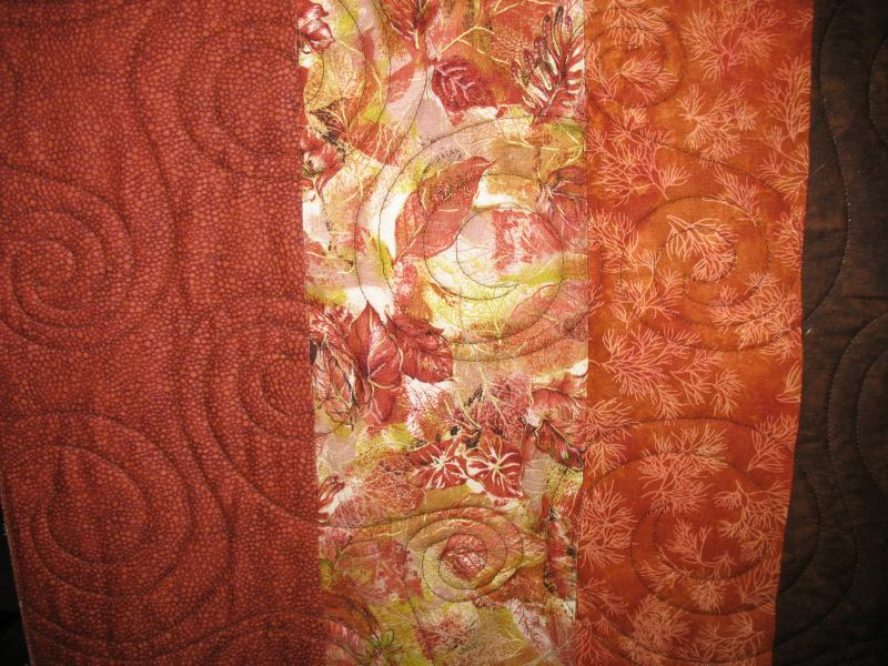 Diane's Embroidered Fall Leaves Quilt