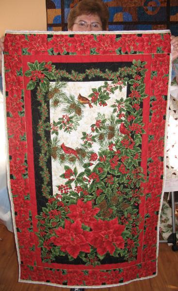 Brenda's Christmas Panel Quilt