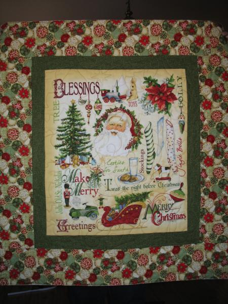 Donna's Christmas Santa Panel Quilt
