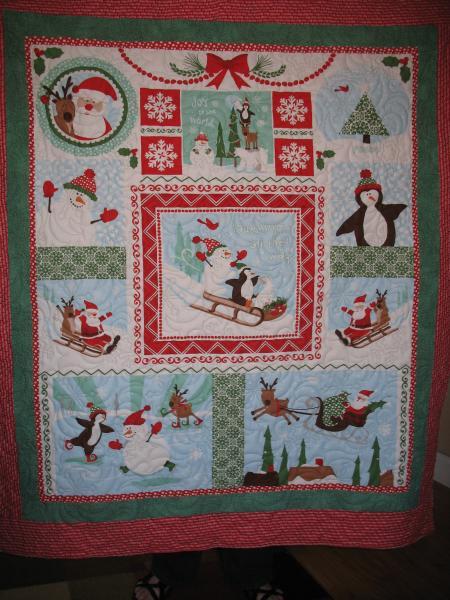 Donna's Snow Panel Quilt
