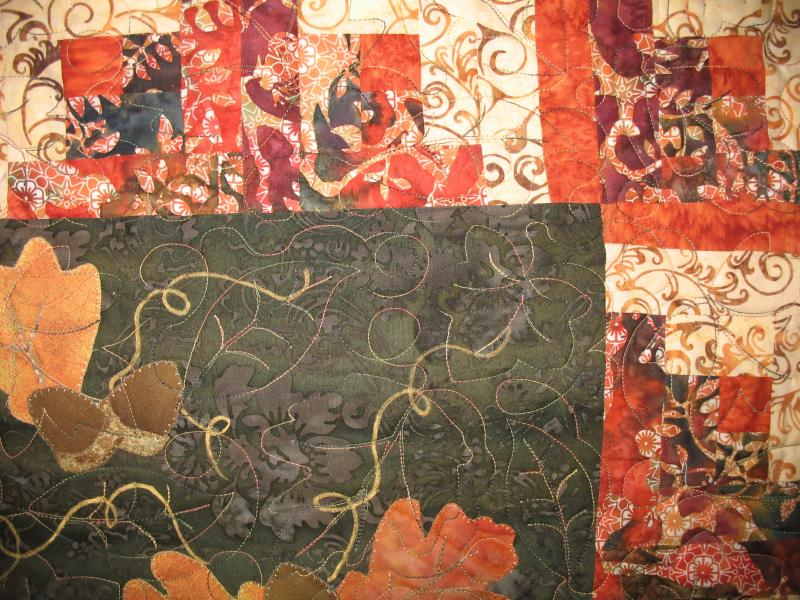 Barbara's Fall Applique Quilt