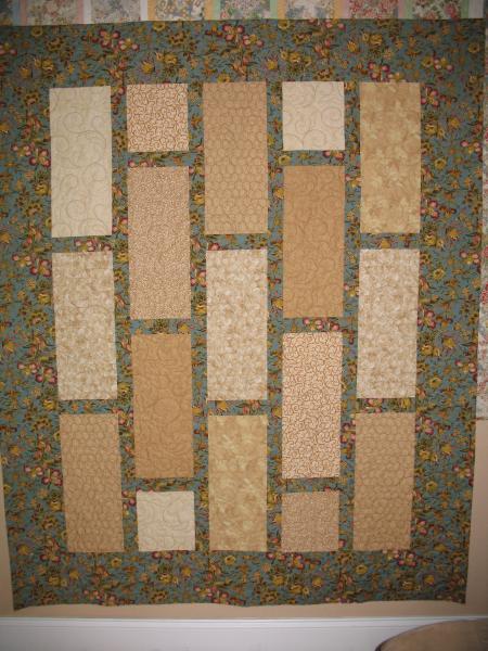 Kathy's Beige/Floral Quilt
