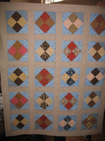 Leah'sOn-Point Four Patch Quilt