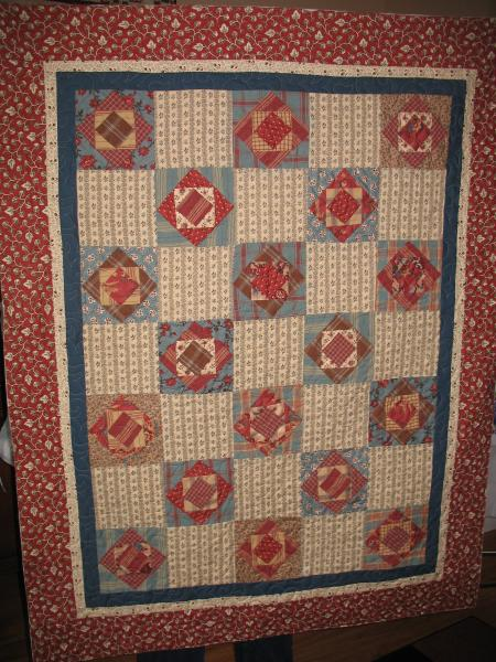 Leah's Square in a Square in a Square Quilt