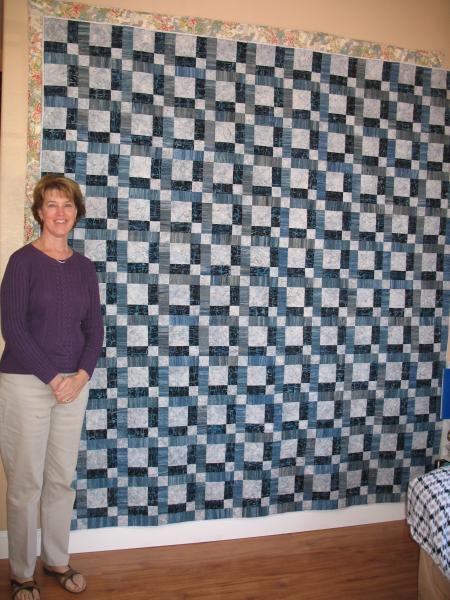 Jan's  Blue/gray Batik Quilt