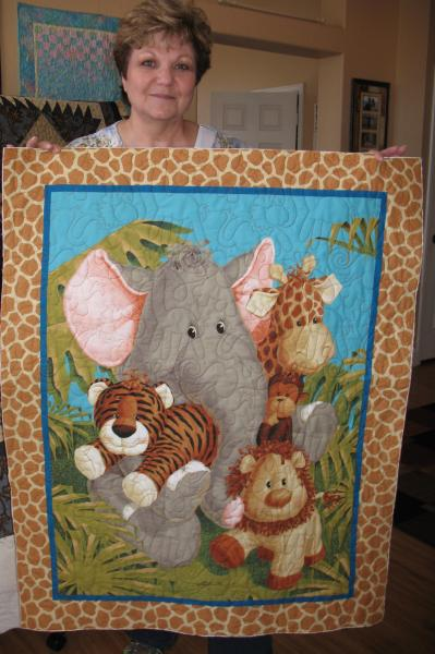 Donna's Jungle Babies Quilt