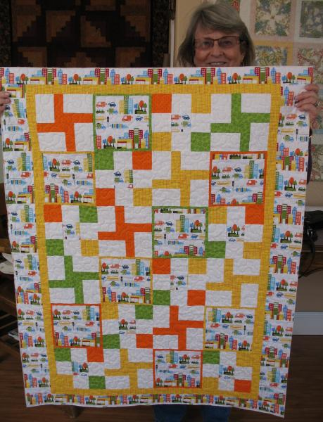 Carol's Wind-up Cars Baby Quilt