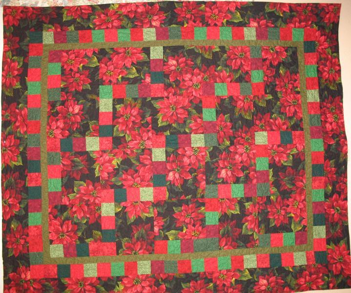 Marj's Poinsettia Christmas Quilt