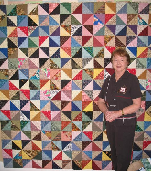 Betty's Half Square Triangle Quilt