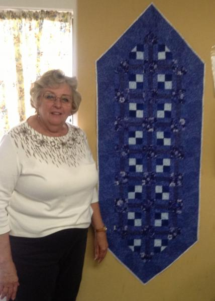 Marjorie's Delft Blue Table Runner