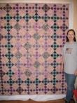 Lois' Purple Batik Quilt