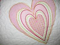 Margo's Heart Baby Quilt
