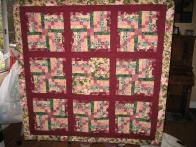 Linda's Burgandy Rose Table Topper