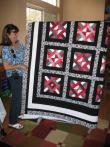 Patti's Black, Red, and White Quilt