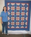 Lois' Patriotic Friendship Quilt
