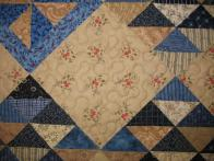 Patsy's Blue and Beige On Point Quilt