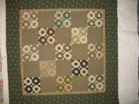 Cari's Green and Beige Quilt
