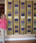 Peggy's Gold and Purple Quilt