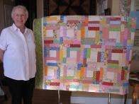 Beverly's Scrappy Floral Quilt