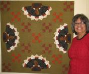Virginia's Turkey Applique Table Topper