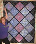 Kathy's On-Point Batik Quilt