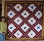 Bigwei's  Maple Leaf  Irish Chain Quilt