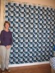 Jan's  Blue/gray Batik Quilt
