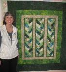 Roxanna's French Braid Batik Quilt