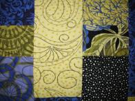 Gayle's Purple and Chartreuse Quilt