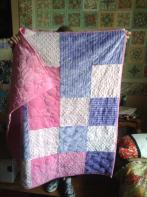Brenda's Minkee Baby Quilt