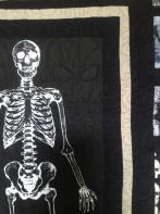 Samantha's Glowing Skeleton on Black