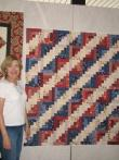 Angela's Patriotic Red, White and Blue Quilt