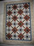 Kathy's Blue and Brown Quilt