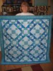 Susie's Blue Batik Quilt